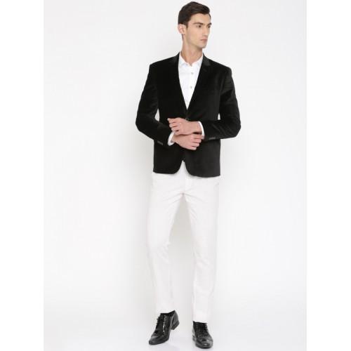 Peter England Black Regular Fit Party Blazer