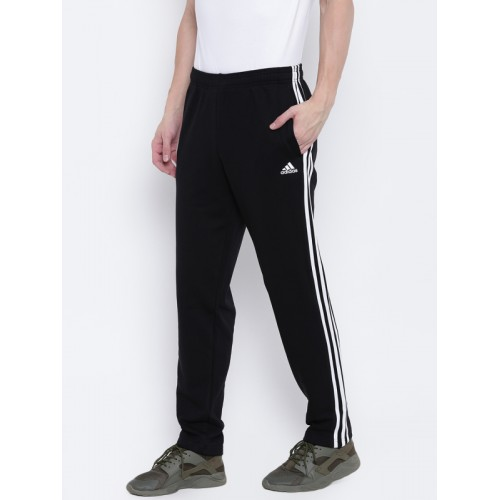 9931c88c65f2 Buy Adidas Men Black Essential 3 Stripes T FT Training Track Pants ...
