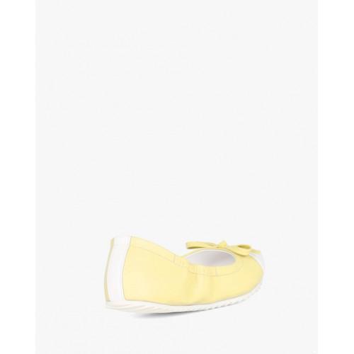 AJIO Yellow Synthetic Flat Ballerinas