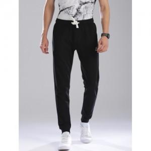 Kappa Men Black Slim Fit Solid Joggers