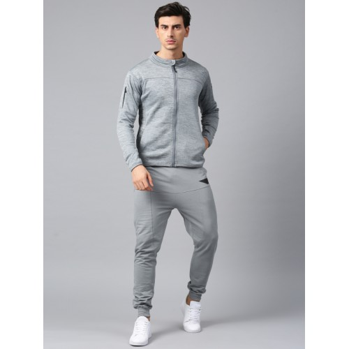 HRX Active by Hrithik Roshan Grey Solid Joggers