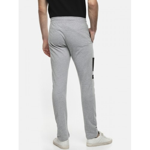 Ajile by Pantaloons Men Grey Melange Cotton Track Pants