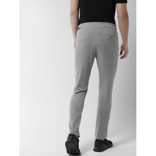 Fort Collins Men Grey Solid Track Pants