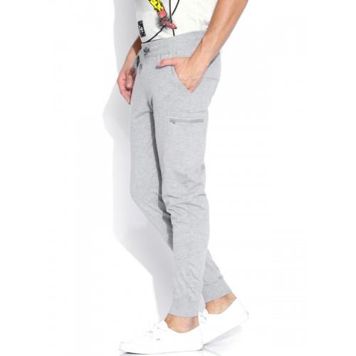 Kook N Keech Grey Melange Jogger Track Pants