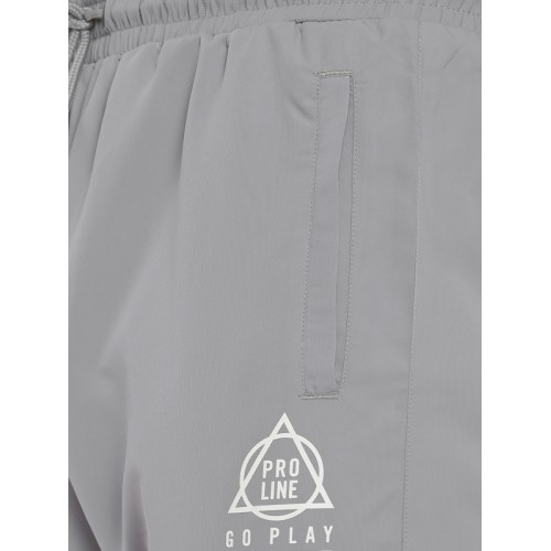 Proline Men Active Grey Straight Fit Solid Track Pants