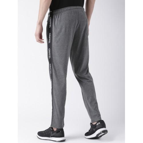 GRIFFEL Men Charcoal Grey Trackpants