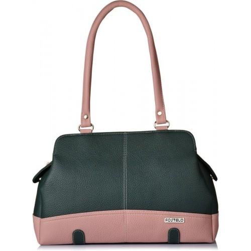 Fostelo Shoulder Bag(Green, Pink)