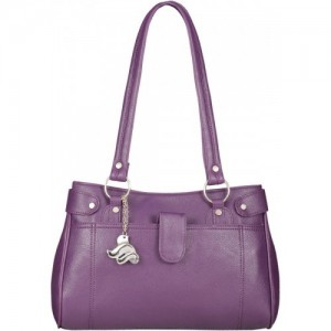 Fostelo Purple Polyurethane Shoulder Bag