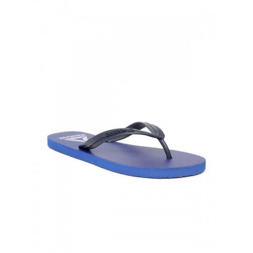 Reebok Men Blue Avenger Solid Thong Flip-Flops