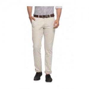 Allen Solly Beige Slim Fit Trousers