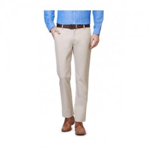 Allen Solly Beige Regular Fit Cotton Trousers