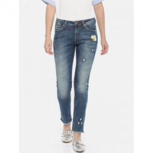 Lee Cooper Women Annie Blue Slim Fit Mid-Rise Clean Look Stretchable Jeans