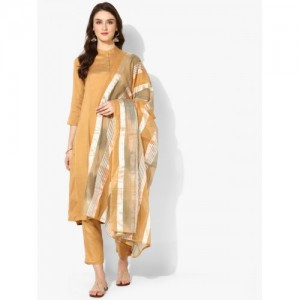 5541022f1d2 Women s Salwar Suits from Sangria On Jabong (17 items). Sangria Mustard  Viscose Rayon Solid Kurta With Crop Pant   Yarn Dyed Chanderi Dupatta