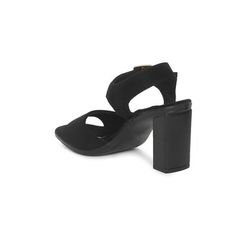 Catwalk Black Synthetic Solid Sandals