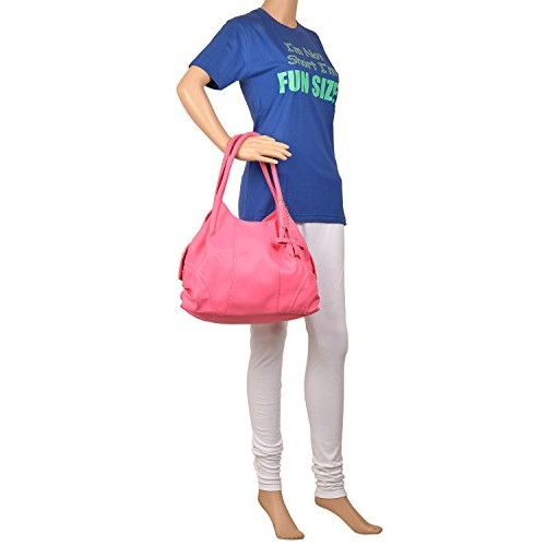 Fostelo Classics Pink Synthetic Solid Handbag