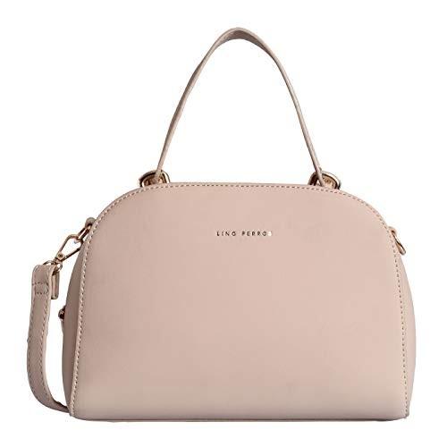 Lino Perros Beige Faux Leather Handbag