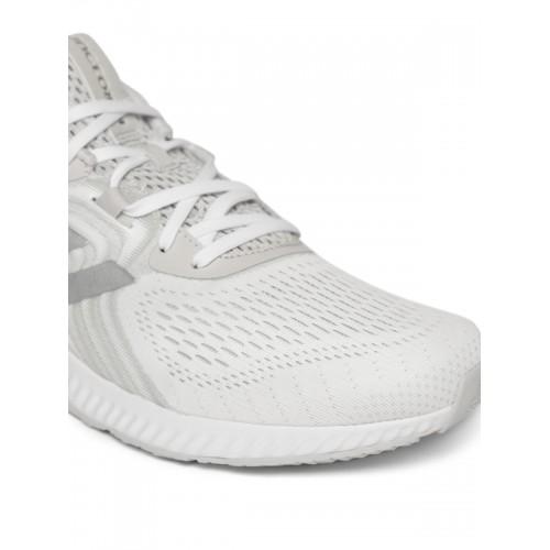 Adidas Men Off-White & Grey Aerobounce 2 Running Shoes