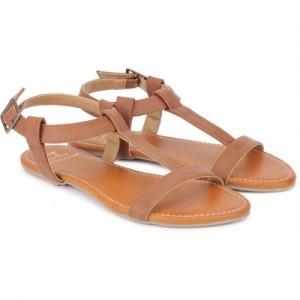 Miss CL By Carlton London Women Tan  Flat Sandal
