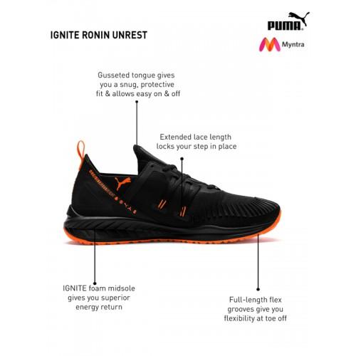 Buy Puma Men Black IGNITE Ronin Unrest Running Shoes online ... 66fb7a804