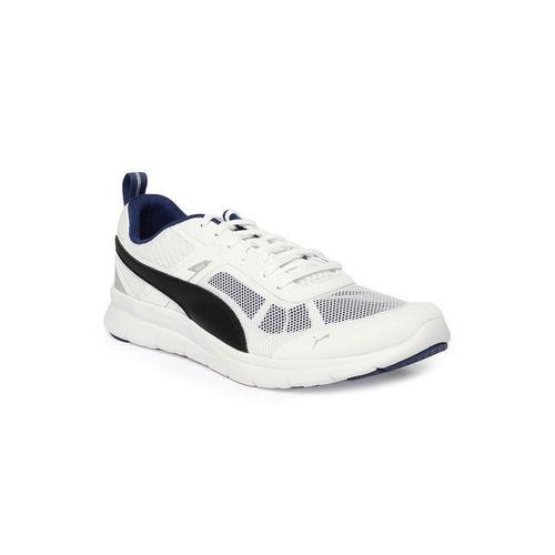 26fd93d540bc11 Buy PUMA Men White   Black Flex Essential Tech Running Shoes online ...