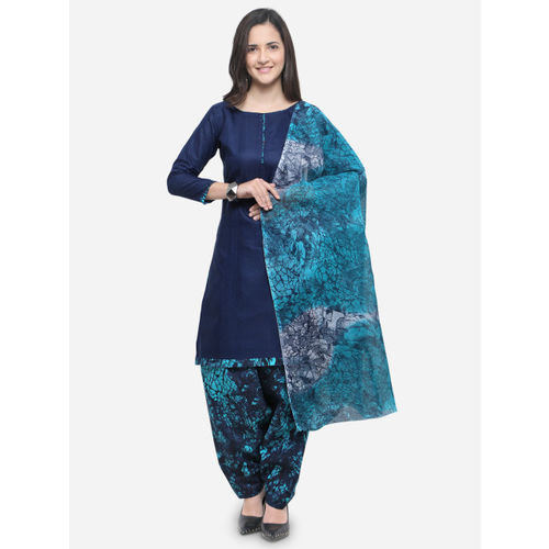 Rajnandini Navy Blue Cotton Printed  Salwar Suit