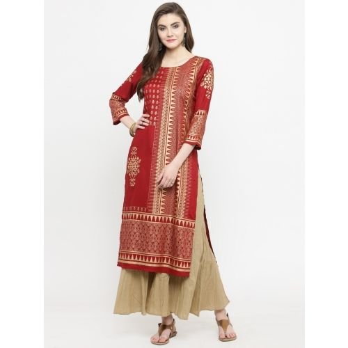 Varanga Women Printed Straight Kurta