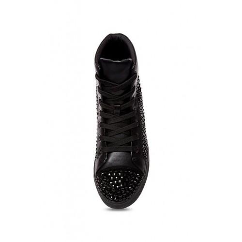97b8749493e Buy Steve Madden Crescent Black Ankle High Sneakers online
