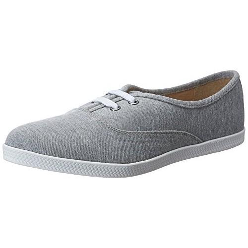 Carlton London Women's Phyliss Grey Canvas Sneakers