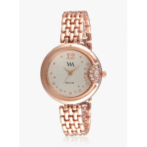 Watch Me Rose Gold Stainless Steel Analog Watch