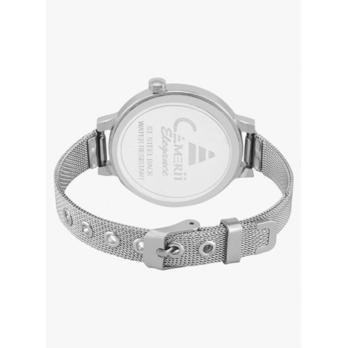 Camerii Silver/Pink Metal Analogue Watch