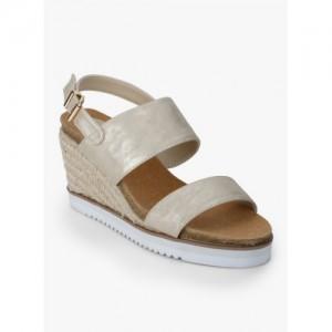 100e4548131 Buy Aldo Kerina Golden Metallic Ankle Strap Sandals online