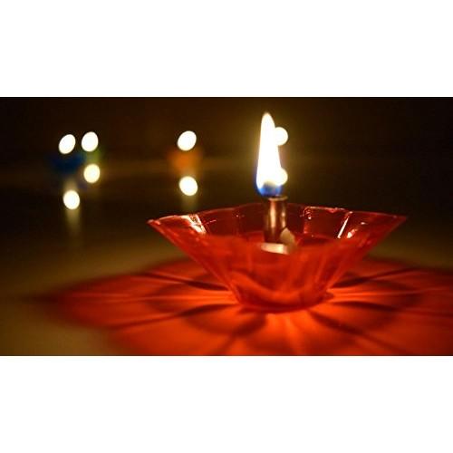 Indian Festa Multicolor Reflections Plastic Diya  Set Of 12