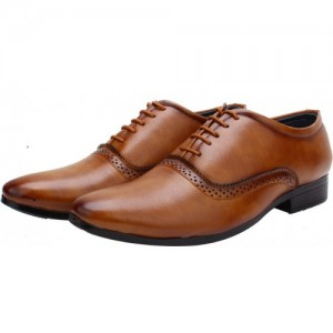 Smoky Men's Brown Oxford Formal Shoes