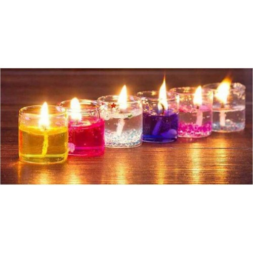 Kidzoo Glass Table Diya Set ( Pack of 12)