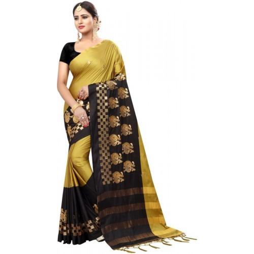 95c54fdc93f94 Buy Saara Solid Fashion Art Silk Saree(Black