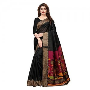 Varayu Black Kashmiri Silk Printed Saree