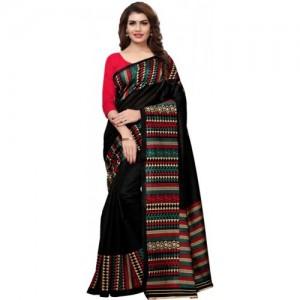 83bd08a4abb Buy Ishin Printed Bollywood Art Silk Saree online