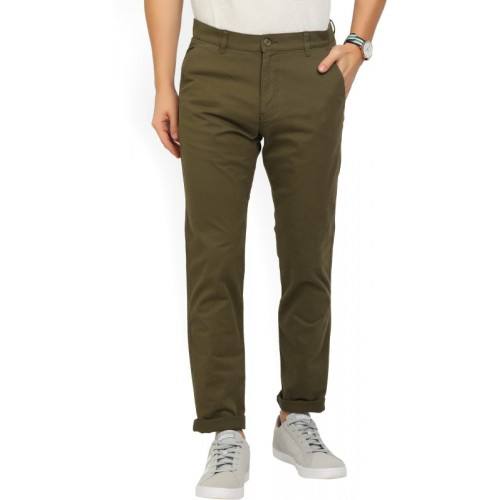 Highlander Slim Fit Men Dark Green Trousers
