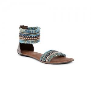 Catwalk Women Blue Synthetic Flat Sandal