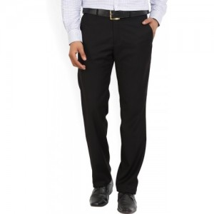 Park Avenue Slim Fit Men Black Trousers