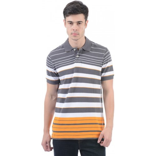 97da0997 Buy Aeropostale Striped Men Polo Neck Grey, White T-Shirt online ...
