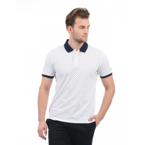 d691b234 Buy Arrow Sport Printed Men Polo Neck White T-Shirt online | Looksgud.in