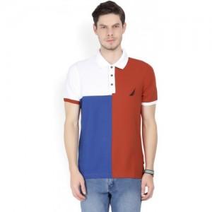 Nautica Color block Men Polo Neck Multicolor T-Shirt