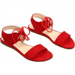 Lavie Women Red Flat Sandal