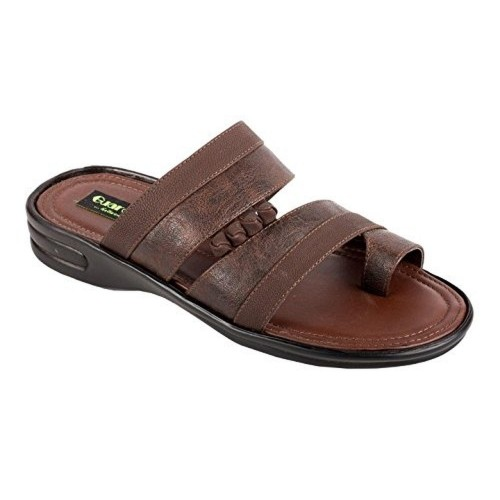 c13eae9e75df93 ... La Guardian Brown Faux Leather Sandals for Men Casual And Formal Wear  ...