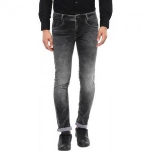 Mufti Slim Men Black Jeans