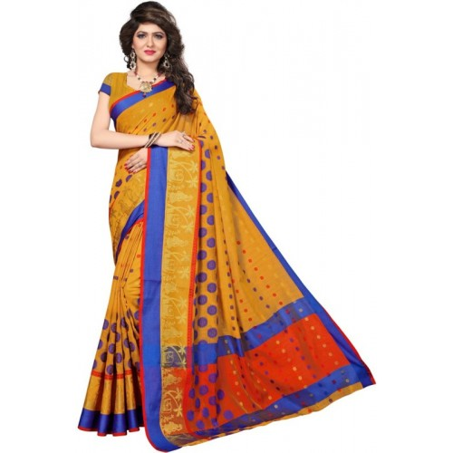 77d293ffb Buy Saara Woven Fashion Cotton Silk Saree(Yellow
