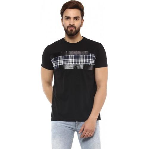 cff0e539 Buy Mufti Solid Men Round Neck Black T-Shirt online | Looksgud.in
