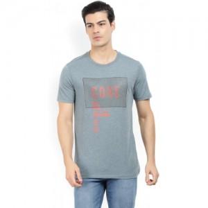Jack & Jones Printed Men's Round Neck Grey T-Shirt