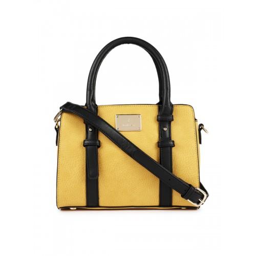 defb3ba1764959 ... Handheld Bag; Van Heusen Woman Yellow & Black Colourblocked Handheld ...